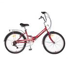 """Велосипед 24"""" Stels Pilot-750, Z010, цвет тёмно-красный, размер 16"""""""