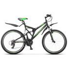 """Велосипед 26"""" Stels Crosswind, Z010, цвет чёрный/салатовый, размер 20"""""""