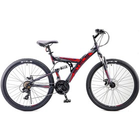 """Велосипед 26"""" Stels Focus MD, V010, цвет чёрный/красный, размер 18"""""""