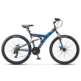 """Велосипед 26"""" Stels Focus MD, V010, цвет чёрный/синий, размер 18"""""""