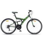 """Велосипед 26"""" Stels Focus V, V030, 21 скорость, цвет чёрный/зелёный, размер 18"""""""
