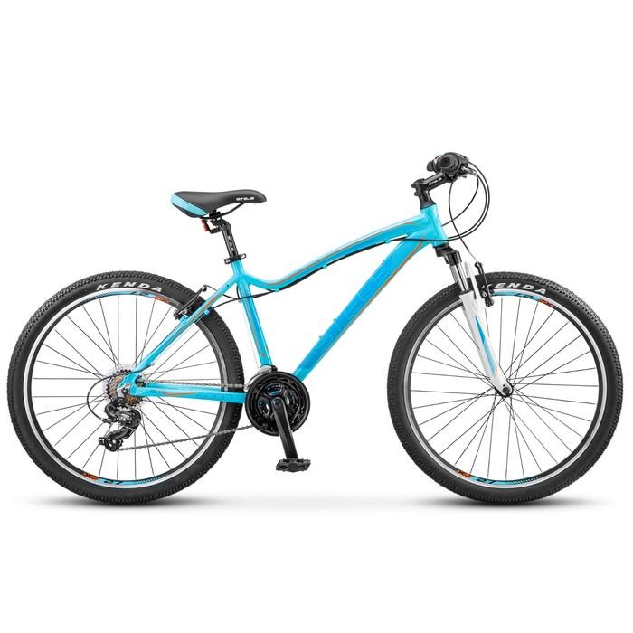 "Велосипед 26"" Stels Miss-6000 V, V030, цвет морская волна/оранжевый, размер 15"""