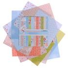 "Набор бумаги для скрапбукинга  ""Зимний переполох"" 12 листов 180г/м2, 15,2х15,2см"