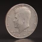 """Монета """"50 центов 1974 США"""" без букв мон.двора"""