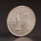 "Монета ""25 центов 2001 Нью-Йорк США"""