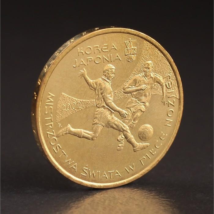 """Монета """"2 злотых 2002 Польша Чемпионат мира по футболу — Корея, Япония"""