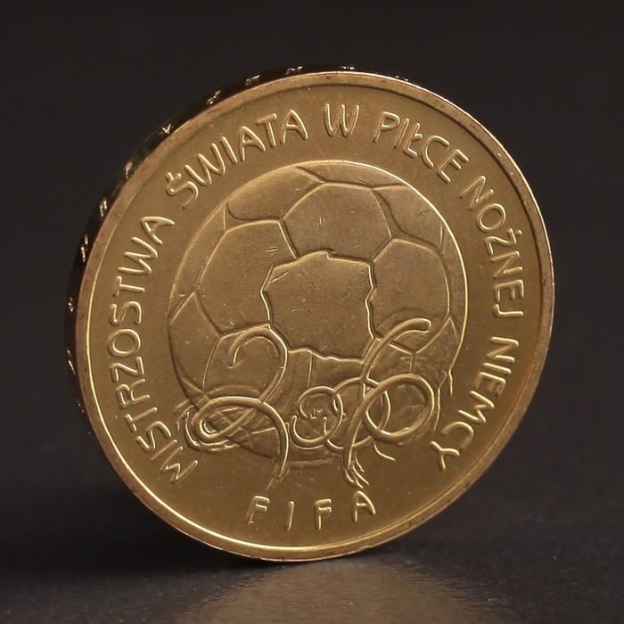 """Монета """"2 злотых 2006 Польша Чемпионат мира по футболу Германия 2006"""