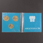 """Набор монет """"Аргентина Чемпионат Мира 1978 """"Футбол"""" в оригинальном альбоме"""