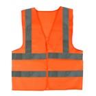 Жилет текстильный Ж4 , оранжевый, усиленный, XL