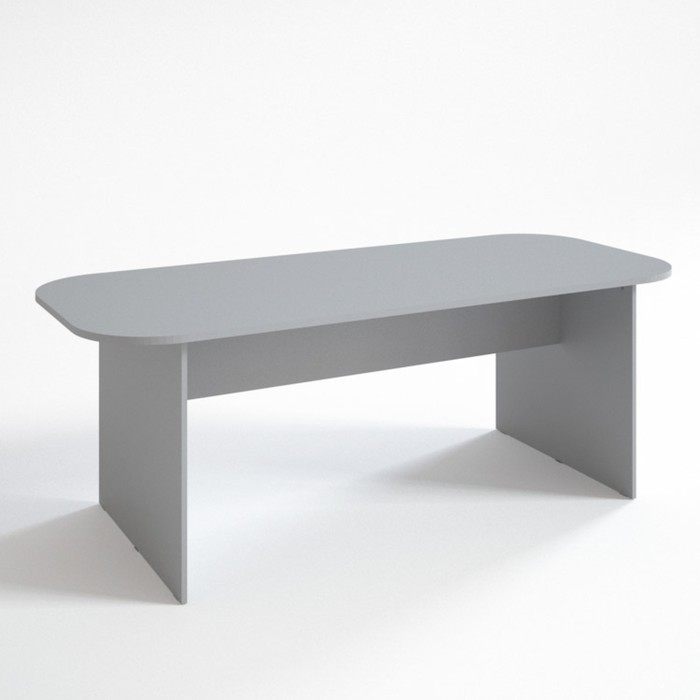 Конференц стол ФК.2, 2100х900х750 мм, серый - фото 3583418