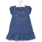 """Платье детское KAFTAN """"LOVE"""", рост 92-98 (28), 1,5-2 года, цвет индиго"""