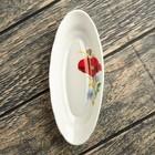Селёдочница 18,5 см, мак салатный, деколь