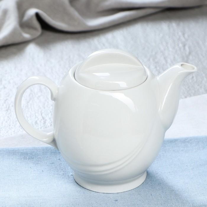 """Чайник заварочный 0,6 л """"Экспресс"""", белый"""