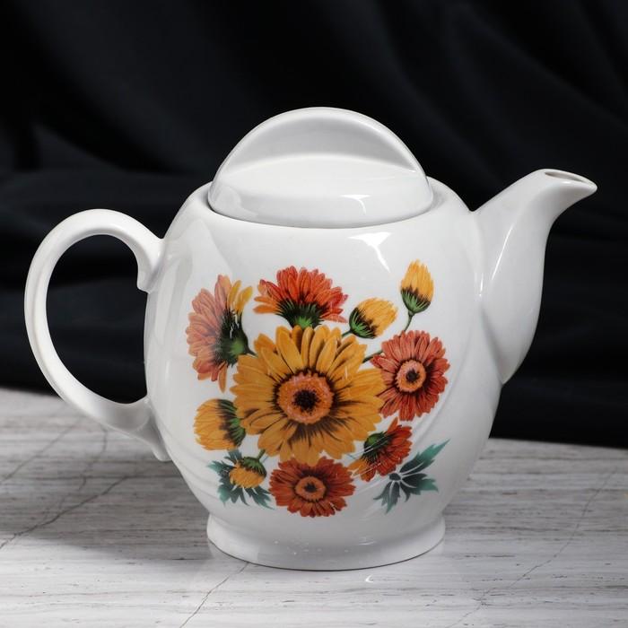 """Чайник заварочный """"Экспресс"""", цветы, 0,5 л, микс"""