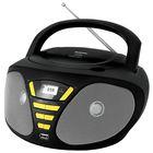 Аудиомагнитола BBK BX180U, 4 Вт, CD, CDRW, MP3, FM(dig), USB, черная/желтая