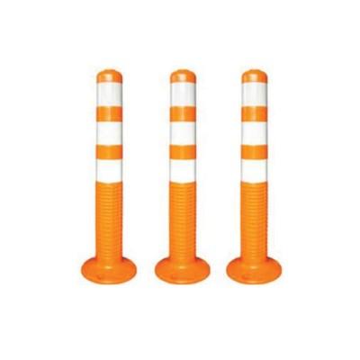 Столбик дорожный, парковочный, 80х750 мм, полиуретан, цвет оранжевый