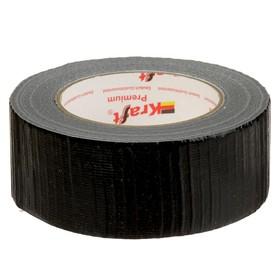 Лента армированная Kraft, клейкая, 50 мм х 50 м, чёрный