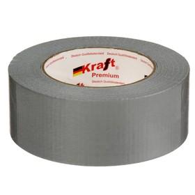 Лента армированная Kraft, клейкая, 50 мм х 50 м, серый
