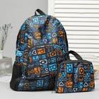 """Рюкзак складной """"Буквы"""", отдел на молнии, наружный карман, 2 боковые сетки, цвет синий"""