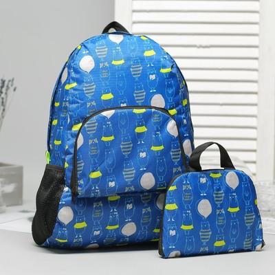 a4ae66ad3815 Рюкзак складной, отдел на молнии, наружный карман, 2 боковые сетки, цвет  синий
