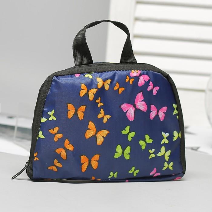 Рюкзак складной, отдел на молнии, наружный карман, 2 боковые сетки, цвет тёмно-синий - фото 440968507