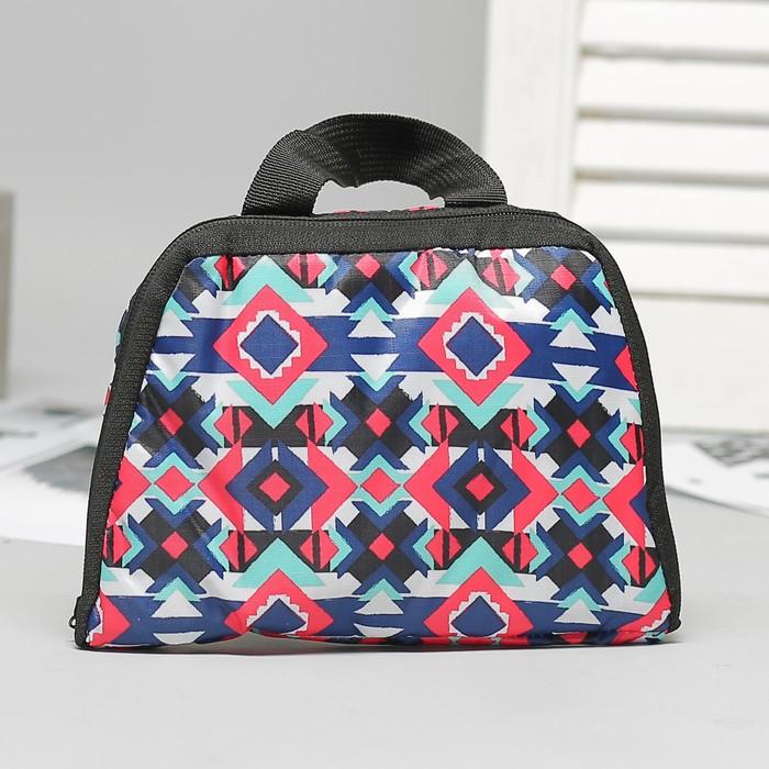 Рюкзак складной, отдел на молнии, наружный карман, 2 боковые сетки, цвет разноцветный - фото 415622686