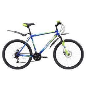 """Велосипед 26"""" Black One Onix D, 2018, цвет синий/зелёный/голубой, размер 16"""""""