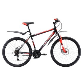"""Велосипед 26"""" Black One Onix D, 2018, цвет чёрный/красный/белый, размер 20"""""""