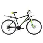 """Велосипед 26"""" Challenger Agent D, 2018, цвет чёрный/зелёный/голубой, размер 20"""""""