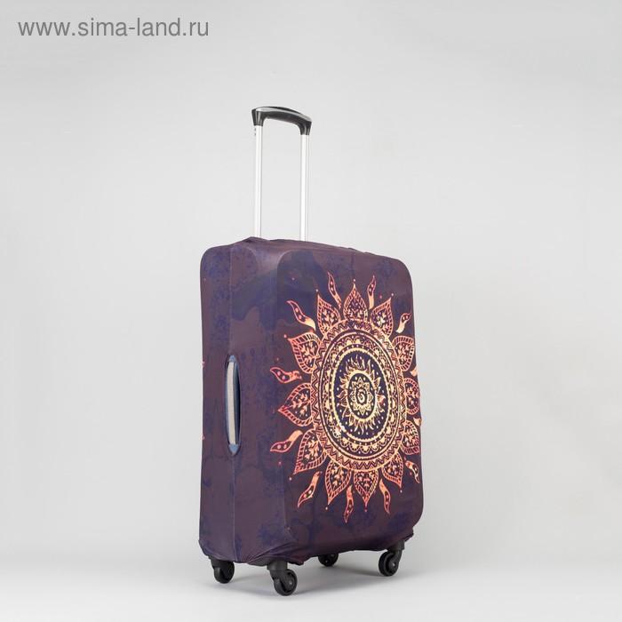 """Чехол для чемодана Солнце, 20"""", 36*24*49см, черный"""