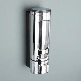 Диспенсер для жидкого мыла механический, 400 мл, металл, цвет хром