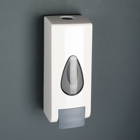 Dispenser wall-mounted mechanical, plastic, color white