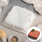 """Форма для муссовых десертов и выпечки 17,5×4,5 см """"Полосы"""", цвет белый"""