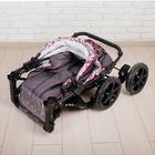 Коляска-трансформер «Гном», пластиковые колёса, оттенки розового, рисунок МИКС - фото 105548309