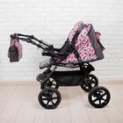 Коляска-трансформер «Гном», пластиковые колёса, оттенки розового, рисунок МИКС - фото 105548306