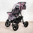 Коляска-трансформер «Гном», пластиковые колёса, оттенки розового, рисунок МИКС - фото 105548308