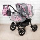 Коляска-трансформер «Гном», пластиковые колёса, оттенки розового, рисунок МИКС - фото 105548311