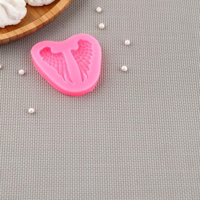 Молд силиконовый «Крылья», 7×6,5 см - фото 308041830