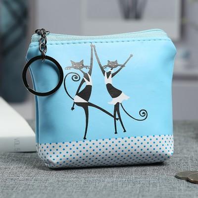 Purse women's, division zipper, blue color