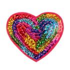 """Декор на булавке """"Сердце-радуга"""" для одежды, сумок, обуви"""
