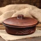 Сковорода малая, 19 см, красная глина, микс