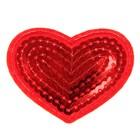 """Декор на булавке """"Сердце красное"""" для одежды, сумок, обуви"""