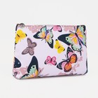 """Cosmetic bag with a simple """"Butterfly"""", the zipper, color pink"""
