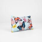 """Cosmetic bag with a simple """"Butterfly"""", the zipper, color blue"""