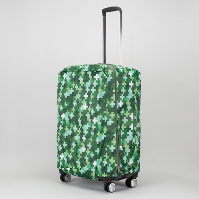 Чехол для чемодана, расширение по периметру, цвет зелёный