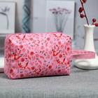 Косметичка дорожная «Лисички», отдел на молнии, ручка, цвет розовый