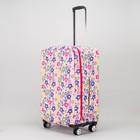 Чехол для чемодана, расширение по периметру, цвет белый/разноцветный
