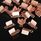 Концевик-зажим, 10 мм (набор 20шт) СМ-275, цвет меди