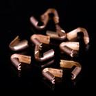 Концевик-зажим, 3,5 мм (набор 20шт) СМ-296-2, цвет меди