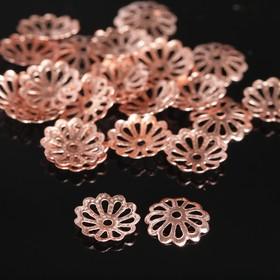Bead caps (set of 100pcs) CM-008, color copper